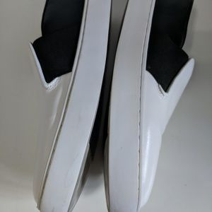 CHANEL Shoes - SOLD Chanel Black & White Slip-on 16p CC Sneakers